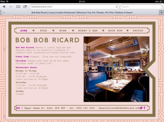 picture from Bob Bob Ricard website